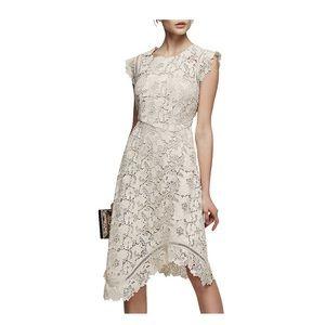 🆕 REISS Guipure lace midi dress